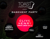 Toast Underground (Formerly Toast London) Poster July12