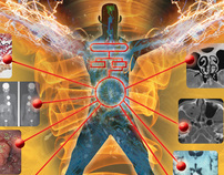 Digital illustration for medical books