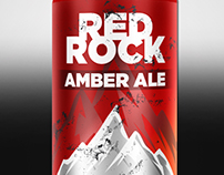 Red Rock AmberAle Beer Brand&Identity - Product Label