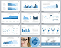 98+ Best business charts report PowerPoint template