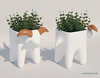Goat Vase
