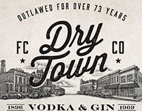 Dry Town Packaging Labels illustrated by Steven Noble