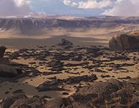 3D desert / octane render