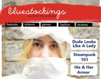 Women's magazine website design