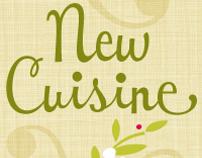 New Cuisine …a contemporary script font.