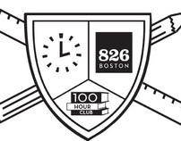 826 Boston 100 Hour Club logo