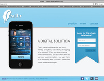 Feathr Mobile Application Website Design