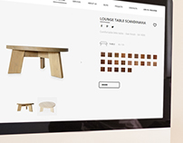 Corporate Website for furniture company