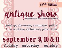 ESA Charity Antique Show 2016 Promotional Materials