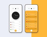 Alarm App Interaction Concept