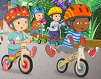 Children's storybook illustrations