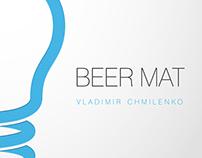 "Beer mat for ""Staropramen"""