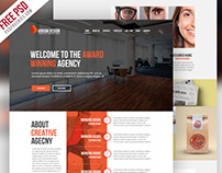 Free PSD : Clean and Creative Agency Website Template