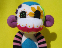 Sugar Skull Sock Monkeys