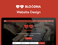 Bloodna Website Design