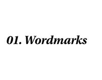 01. Wordmarks