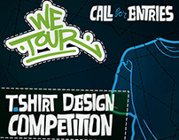 We Tour - T-shirt design Competition