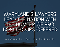 Maryland's Lawyers Lead The Nation with Pro Bono