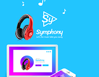 Simphony music application UI Design