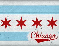 Chicago Flag Poster Design