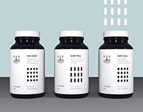 Apotheke (supplement branding & packaging)
