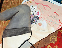 "Oil Painting - ""Danae"" Reinterpretation"