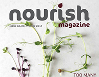 NOURISH MAGAZINE LAYOUT