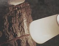 Patyk z białym kamieniem 1