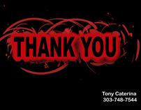 Series of Thank You postcards for real estate agent