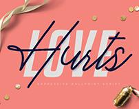 Love Hurts - Ballpoint Script Font