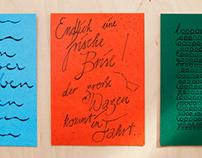 Kalligraphierte Karten / Calligraphed Cards