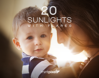 20 Sunlights with Flares