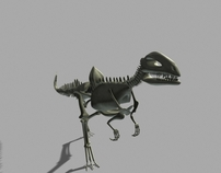 Dinosaur Skeleton Walk Cycle
