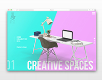 Furniture Slider - Landing Page