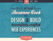 New Portfolio Design: roxannecook.com