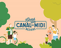 Grand Site Canal du Midi - Branding & illustration