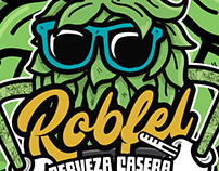 BEER LABEL & LOGO DESIGN (ROBFEL BEER)