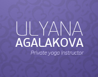 ULYANA  AGALAKOVA (Private yoga instructor)