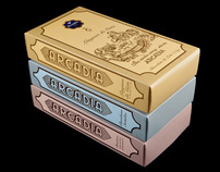 "Arcádia, ""Retro"". Chocolat Packaging."