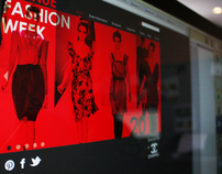 Fashion Week ad campaign & Landing Page