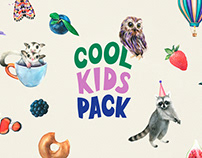 Cool Kid's Watercolor Set