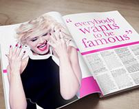 Gwen Stefani Magazine Spread