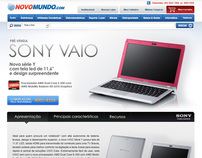 Landing page Sony Vaio