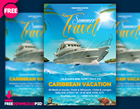 Summer Travel Flyer Template Psd