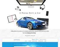 K.Maraş Rent a Car - Web Interface Design