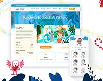 Mi Cuento Mágico, ilustraciones y diseño web