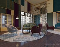 hotel interior design & 3d