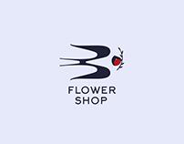 Swallow flower shop Logo