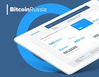 Bitcoin-russia. Website design