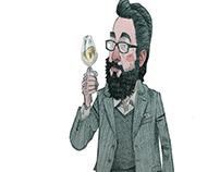 Scottish Field Writer Profile Illustrations